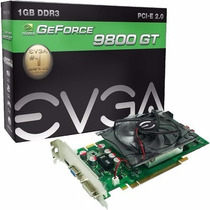 Placa Video Evga 9800gt 1gb Ddr3 256bits 9800 Gt Promocao