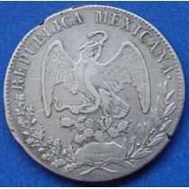 Moneda México Durango 8 Reales 1834 Rm Aguíla Francesa