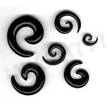 Alargador Piercing Espiral Caracol 2mm 3mm 4mm 5mm 6mm 8mm