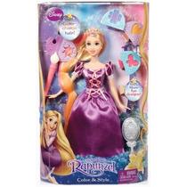 Rapunzel Muñeca De Disney Colorea Su Cabello Y Cambia Estilo