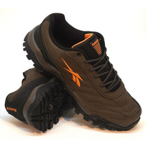 Zapatillas Reebok Modelo Trekking Cross City Brown/orange