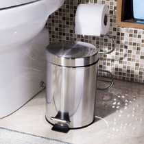 Cesta De Lixo Lixeira Cozinha Banheiro Cromada Prata 3l