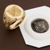 Anel Brasão De Família Ouro 18k Personalizado De Luxo