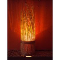 Luminária Rustica Artesanal Em Cacho De Açaí