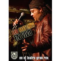 Dvd Mattioli Leo En El Teatro Gran Rex Nuevo