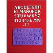 Molde Silicona Abecedario Letras Y Numeros Reposteria