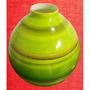Jarrón Decorativo En Color Verde De Bima