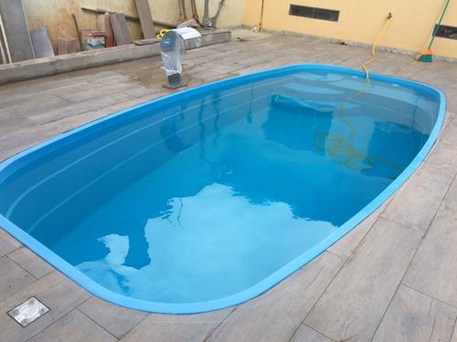 Piscina fibra 5 39 x 2 62 x 1 30 completa r em mercado livre - Toboganes para piscinas baratos ...