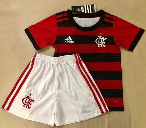 7ec7b61bf0 Kit Infantil Flamengo 2018 19 adidas Frete Grátis - R  129