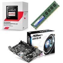 Kit Amd Asrock Am1b-m + Sempron 2650 Dual Core 1.4 Ghz + 4gb