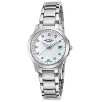 Reloj Rotary Lb02836-07 Es Stainless Steel Mother Of Pearl