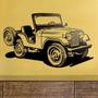 Bondai Vinilos Decorativos Jeep Antiguo Guerra Infantil