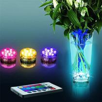 Lampara Sumergible 10 Super Brillantes Led Rgb Multicolor