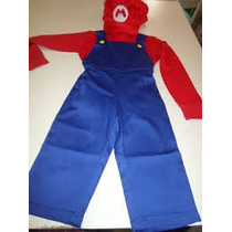 Fantasia Do Mario Bros Infantil Sobe Medidas Brinde Bigode