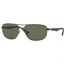 Óculos De Sol Ray Ban Quadrado Masculino Armação Em Metal