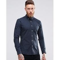 Camisa A Lunares De Hombre Entallada