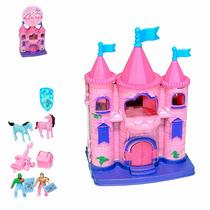 Brinquedo Mini Castelo Com Acessórios Casinha Menina Boneca