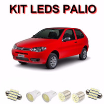 Kit Lampadas Led Palio Pingo Placa Re Teto Palio G2 G3