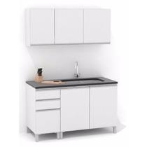Mueble De Cocina 1,40 Mts Manijas J Aluminio Melamina