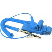 Pulseira Anti Estática Esd - Elástica Ajustável Azul
