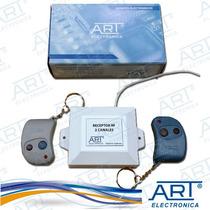Kit Receptor 2 Canales Inalámbrico 418mhz + 2 Control Remoto