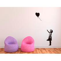 Bondai Vinilos Decorativos Arte Bansky Niña Globo Love Amor