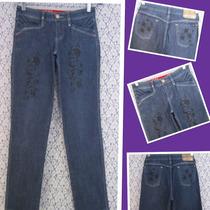 Calça Jeans Azul Escuro Union Bay 40 Lycra Spandex