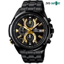 Reloj Casio Edifice Illuminator Efr-536bk-1a9v - 100% Nuevo