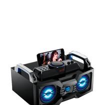 Caixa De Som Amplificada 80w Com Radio Fm E Entrada Usb/sd