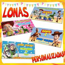 Lona Toystory Woody, Jessie, Buzz Personalizada Oferta