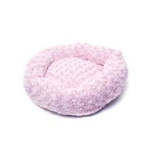Cama Con Tela De Peluche Para Perros Color Rosa +kota