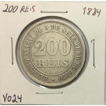Moeda 200 Reis 1884 Império V024