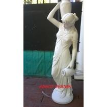 Escultura Estatua 1.30 Eve Fortuna Venus Cemento Marmolina