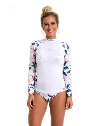 555e8b9c5e828 Camiseta Com Proteção Solar Uv 50+ Feminina Branca - R  159