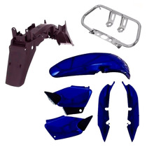 Kit Carenagem Plástico P/ Cg 125 Titan Ano 2000 2001 - Azul