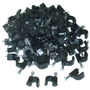 Negro Clip Rg6 Cable De Cablewholesale (100 Piezas Por Bolsa
