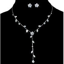 Collar Y Aretes Exquisitos Cristal Swarov Elements Evento