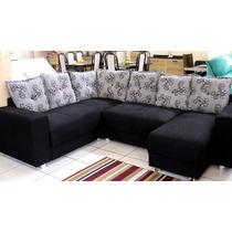 Sofa De Canto 3x2 Lugares + Chaisse 5070-