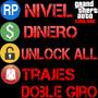 Gta V (dinero - Nivel - Unlock All - Trajes- Doble Giro) Ps3
