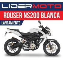 Bajaj Rouser 200ns - Blanca - Lanzamiento Lidermoto!