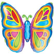Globo Mariposa 3 Pzas Jumbo 28 Pulgadas Para Helio