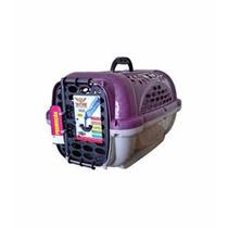 Caixa De Transporte Lilás Com Bebedouro Cães Até 15kg N3