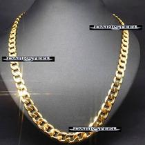 18k Cadena Y Pulsera Cartier Oro Laminado 75cm X 9.2 Mm