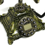 Telefone De Mesa Funcionando Retro Vintage Metalico Novo