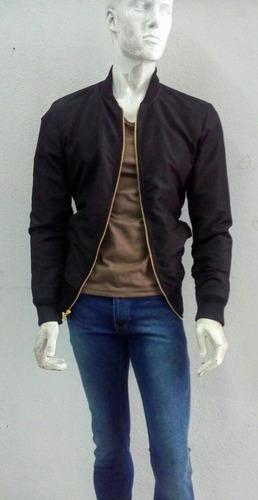 5762e6a8b4a14 Bomber Jacket Negra Para Hombre -   699.00 en Mercado Libre