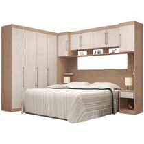 Dormitório Modulado Casal 7 Peças Demóbile C1 Castanho/avelã