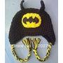Gorra De Batman Tejida A Crochet También Otros Personales!!!