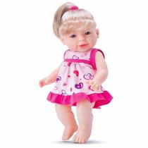 Boneca Julinha Loira 30cm Fala 40 Frases - Divertoys