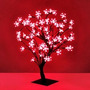 Arbol Navideño Luces Led Rojas Bonsai Cerezo Casamientos