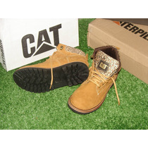 Borcegos Botas Caterpillar Borceguies Woman Animal Print